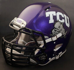 *CUSTOM* TEXAS CHRISTIAN HORNED FROGS TCU Riddell SPEED REPLICA Football Helmet
