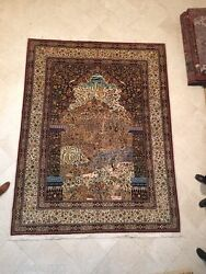 Persian Rug Museum masterpiece Gates of Heaven 110 raj - 1600 KPSI 8x11
