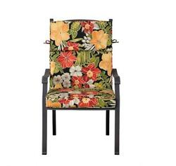 Outdoor Patio Dining Chair Cushion Seat Back Replacement Black Red Green Floral