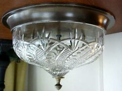 Waterford Crystal SEAHORSE Flush Mount Ceiling Fixture Light Lamp - NEW  BOX!