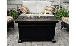 Outdoor Fire Pit Fire Place Back Yard Heater Propane Gas Patio Table BBQ Hot NEW