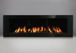 Napoleon Vector™ 62 LHD62 SB Gas Fireplace Topaz Ember Painted Black Surround