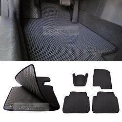 EVA Front Rear Weather Double Floor Mats Cover Pad Full Set Black for SSANGYONG $99.99