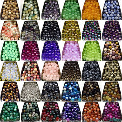 Series I lot natural gemstone spacer loose beads 4mm 6mm 8mm 10mm 12mm stone DIY $1.39