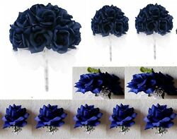 Royal Blue Rose Bridal Wedding Bouquet Package