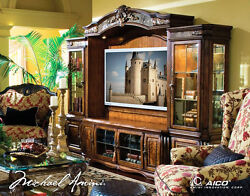 AICO Furniture - Oppulente Entertainment Center with Piers in Sienna Spice - 671