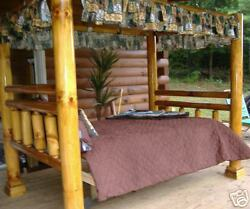 Rustic Log Canopy Bed  Queen..Free Shipping