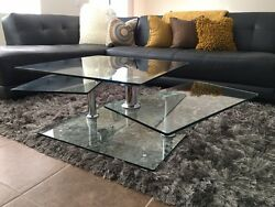 Twister Coffee Table Glass $300.00