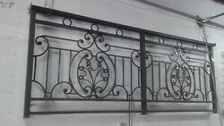 8' Custom Aluminum Rail  with Decorative Scroll  Work