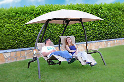 Sunset Swings 422L Two-Person Lounge Chair - Patio Garden Porch Outdoor Hammock
