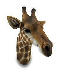 Giraffe Bust Exotic Trophy Head Wall Hanging Sculpture New Free Shipping