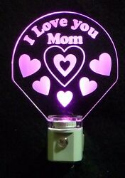 I Love you Mom LED Night Light Can Personalize with a Name Custom Lamp $23.50