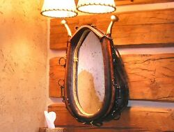Large Horse Collar Harness Mirror With Wood Hames Rustic Western Decor