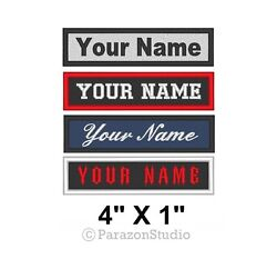 Custom Embroidered Name Tag Sew on Patch Motorcycle Biker Patches 4