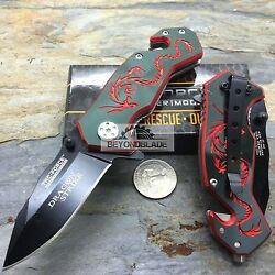 3.5quot; TAC FORCE Dragon Red Small Outdoor Hunting Rescue Pocket Knife $11.08