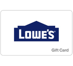 Lowe's Gift Card - $25 $50 $100 or $200 - Email delivery
