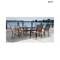 Outdoor Furniture Patio Dining Set Garden Pool Deck Yard Chairs Lawn Table Seats