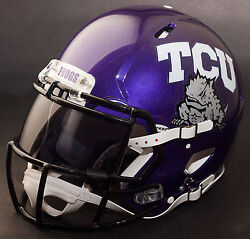 **CUSTOM** TCU HORNED FROGS NCAA Riddell SPEED Full Size Replica Football Helmet