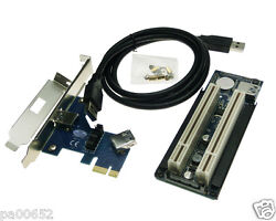 PCIe to PCI 2 Slots Adapter Card PCI Express With 0.6m USB3.0 Cable PCI Riser $36.80