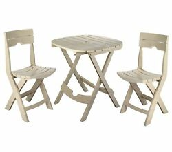 outdoor patio garden deck table chair chairs plastic fold bistro set furniture