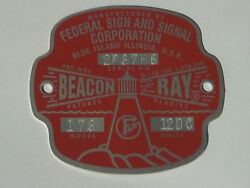 Federal Sign and Signal Model 173 Beacon Ray Replacement Badge $25.50