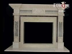 BEAUTIFUL HAND CARVED  MARBLE  EUROPEAN DESIGN FIREPLACE MANTEL - ZMI1