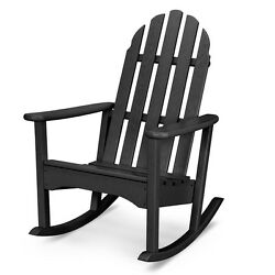 POLYWOOD ADRC100BL Classic Adirondack Outdoor Rocking Chair