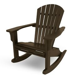 POLYWOOD SHR22MA Seashell Outdoor Adirondack Rocking Chair