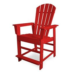 POLYWOOD SBD24SR South Beach Outdoor Adirondack Counter Chair