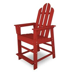 POLYWOOD ECD24SR Long Island Outdoor Counter Adirondack Chair