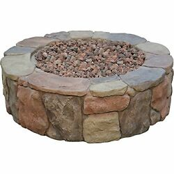 Fire Pits Bond Mfg Pinyon Gas Stone Look Outdoor Fireplaces Firebowl Heating NEW