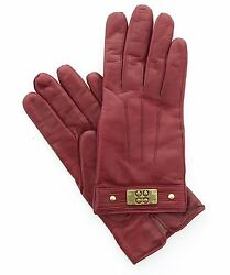 Coach Authentic Women's LeatherCashmere Lined Winter Gloves 82045 Sz 6.5 $128