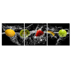 Canvas Print Photo Wall Art Painting Pictures Kitchen Home Room Decor Fruit 3PCS $20.79