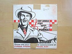 Eddy Arnold Sings Again for Purina commercial promotional record album in sleeve