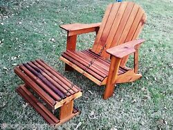 ADIRONDACK CHAIR W FOOT REST Download PDF Plan EASY DIY PATTERNS Build Yourself