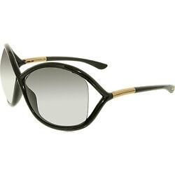 New Ladies Tom Ford Whitney 64mm Black and Gold Butterfly Sunglasses FT0009 199