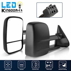 Tow Mirrors for 1999-2002 Chevy Silverado GMC Sierra 1500 2500 3500 Power Heated