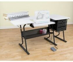 Studio Designs Eclipse Steel Sewing Hobby Center And Computer Work Desk Table