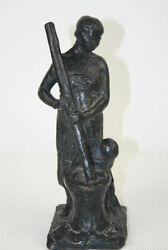 AFRICAN WOMAN AND CHILD. LOST WAX BRONZE. FRANCE. PIERRE ROBERT CHRISTOPHE