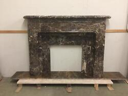 BEAUTIFUL HAND CARVED COFFEE EUROPEAN DESIGN FIREPLACE MANTEL- CFM1