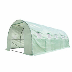 Heavy Duty Walk In Plastic Green House Cover Kit Plant Garden House 20'x9'x7'