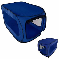 Dog Crate Kennel Portable Soft Collapsible Folding Pet Travel Big Pop Up Cage $21.99