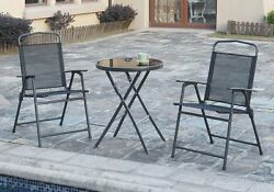 Outdoor Patio Pool Yard Portable Dining Set Foldable Table Folding Chairs