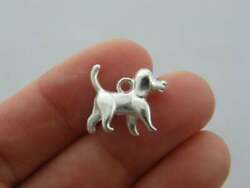 8 Dog charms silver plated A784 GBP 1.95
