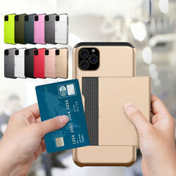 Shockproof Wallet Credit Card Pocket Holder Case For iPhone Xs Max X 8 7 6s Plus