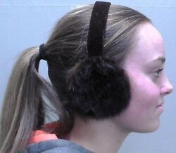 AuSable Fur Brown Mink Fur Earmuffs $39.95