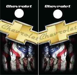 Chevrolet Cornhole Wraps Vinyl Skins Board Decals Bag Toss Game Chevy Sticker
