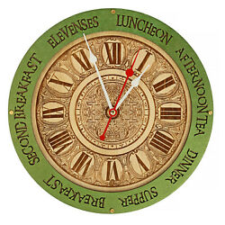 Meal times unique kitchen vintage style decor wooden wall clock $39.95