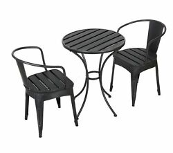 garden outdoor patio furniture dining bistro sets 2 chairs 1 table in blksilv