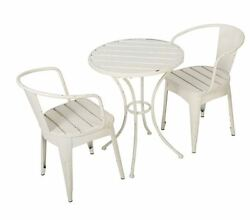 garden outdoor patio furniture dining bistro sets 2 chairs 1 table in white new